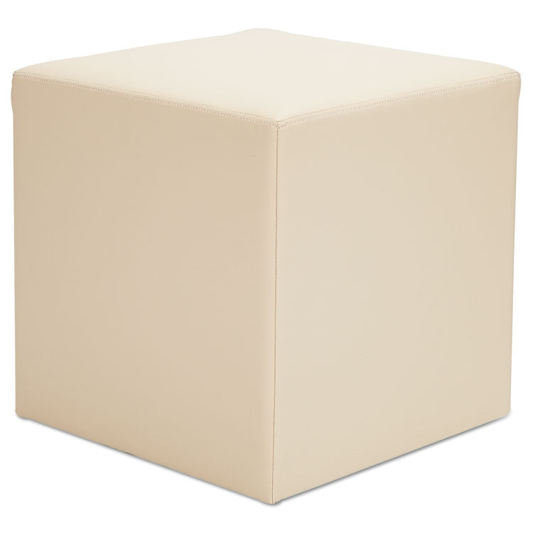 Alera We Series Collaboration Seating, Cube Bench, 18 X 18 X 18, Almond