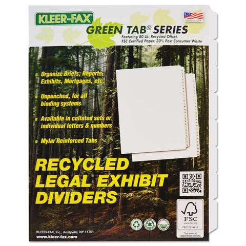 80000 Series Blank Side Tab Dividers, 8-Tab, Letter, White, Unpunched, 3 Sets