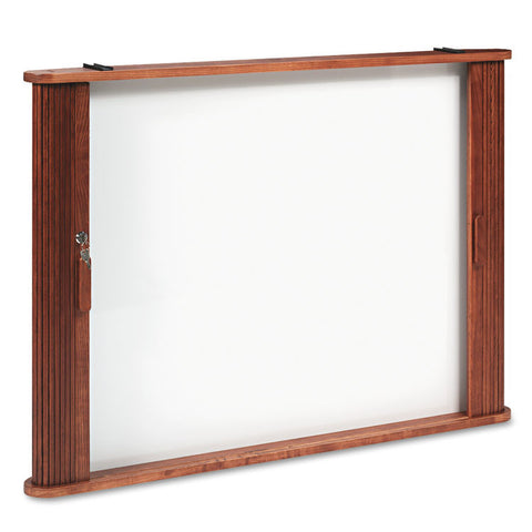 Conference Room Cabinet, Magnetic Dry Erase Board, 44 X 4 X 32, Medium Oak