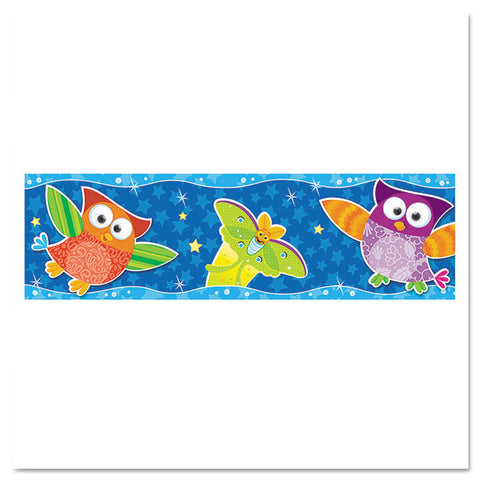 "Bolder Borders, 11 Panels, 2 3/4"" X 39"", Owls/stars"