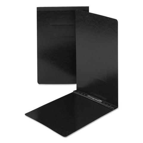 End Opening Pressboard Report Cover, Prong Fastener, Legal, Black