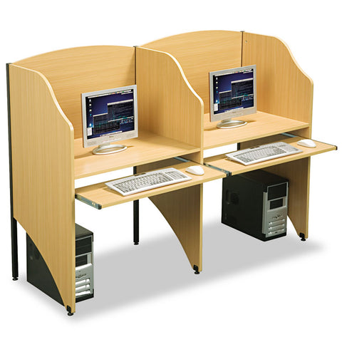 Add-A-Carrel, Laminate, 32-3/4w X 24-1/2d X 48h, Teak