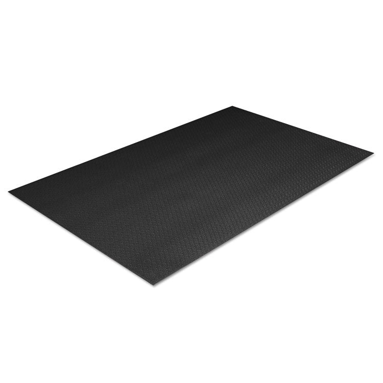 Tuff-Spun Foot Lover Anti-Fatigue Pebble Mat, Pvc, 36 X 72, Black