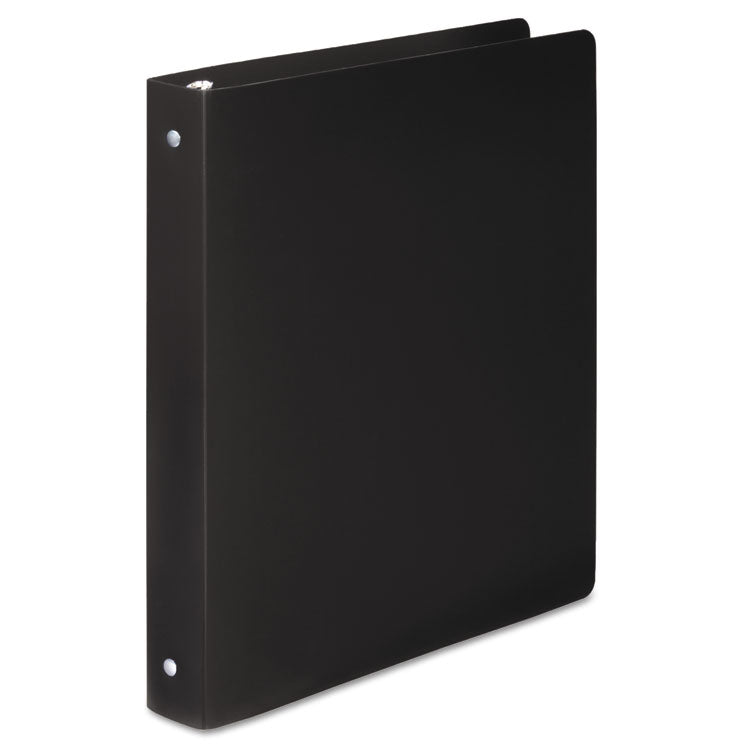 "Accohide Poly Round Ring Binder, 35-Pt. Cover, 1"" Cap, Black"
