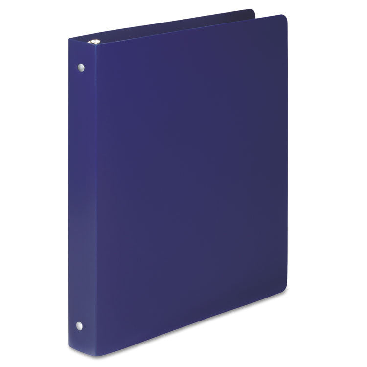 "Accohide Poly Round Ring Binder, 35-Pt. Cover, 1"" Cap, Blue"