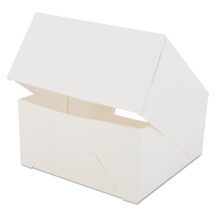 Window Bakery Boxes, White, Paperboard, 8 X 8 X 4, 150/carton