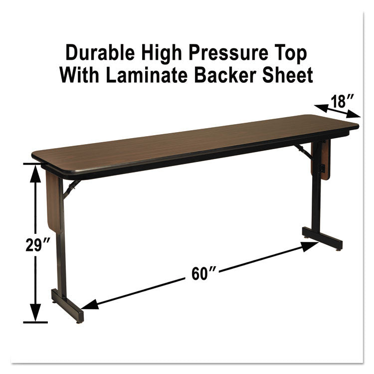 High Pressure Laminate Top Seminar Tables, 60w X 18d X 29h, Walnut