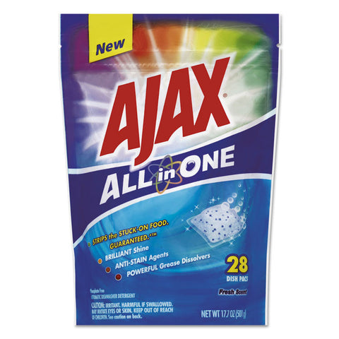 All In One Automatic Dish Detergent Pacs, Fresh Scent, 28/pack, 5 Pack/carton