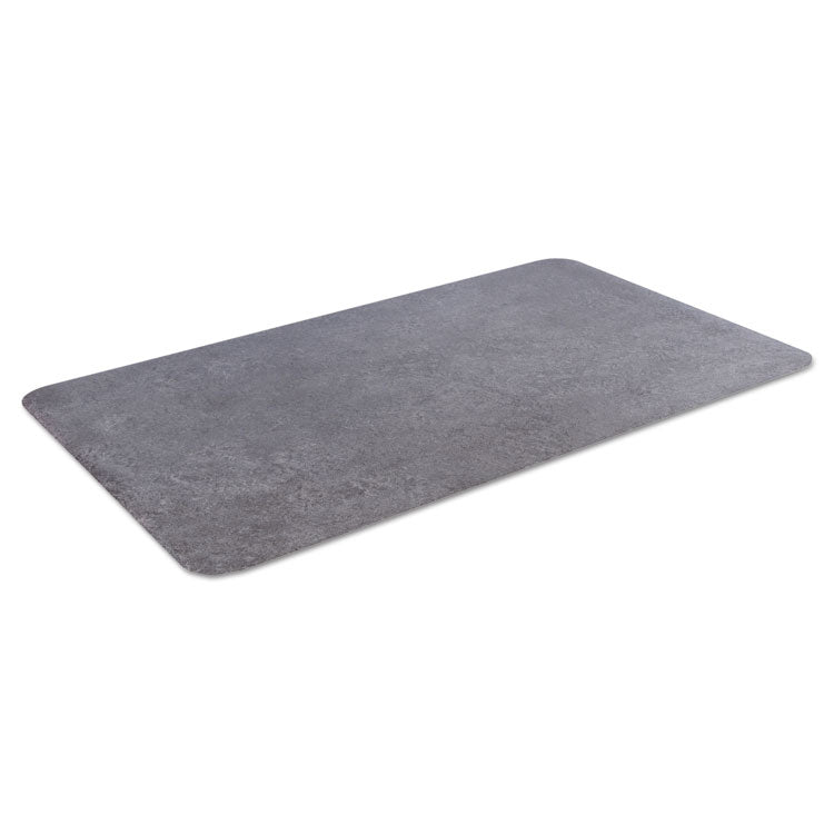 Workers-Delight Slate Standard Anti-Fatigue Mat, 36 X 144, Dark Gray