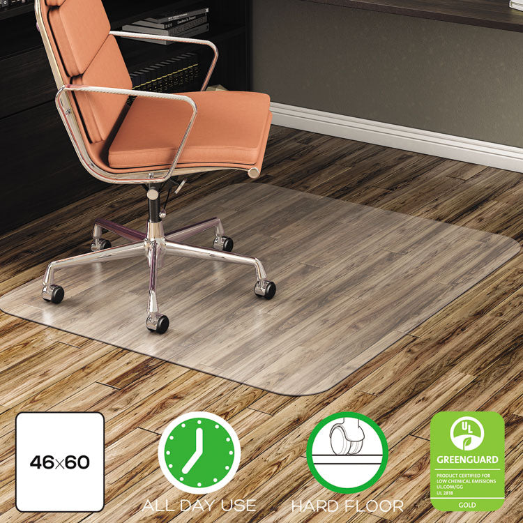 ECONOMAT ALL DAY USE CHAIR MAT FOR HARD FLOORS, 46 X 60, RECTANGULAR, CLEAR