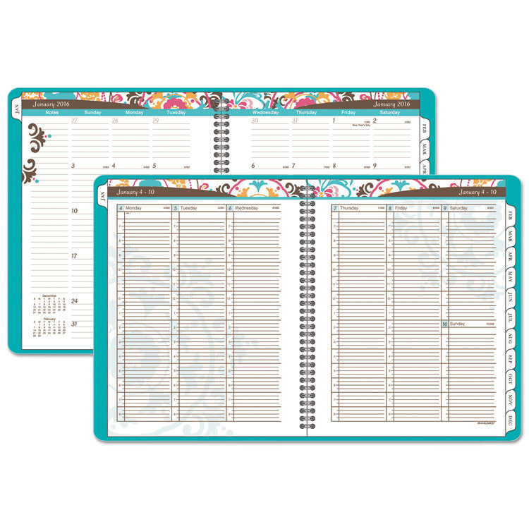 Suzani Weekly/monthly Appointment Book, 8 1/2 X 11, 2017