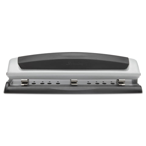"10-Sheet Precision Pro Desktop Two-To-Three-Hole Punch, 9/32"" Holes"