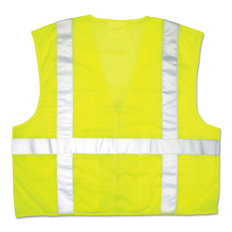 Luminator Safety Vest, Lime Green W/stripe, X-Large