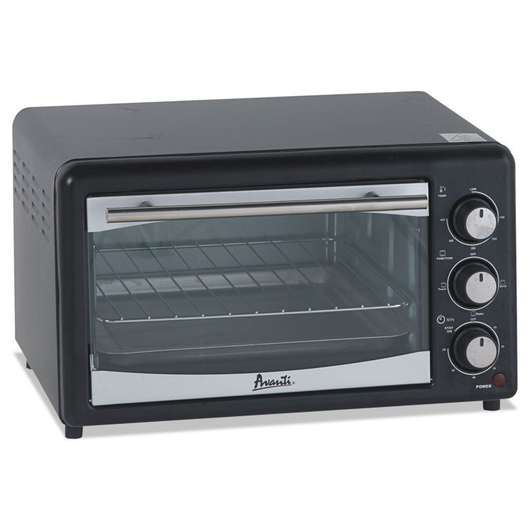 Toaster Oven, 4 Slice Capacity, Stainless Steel/black