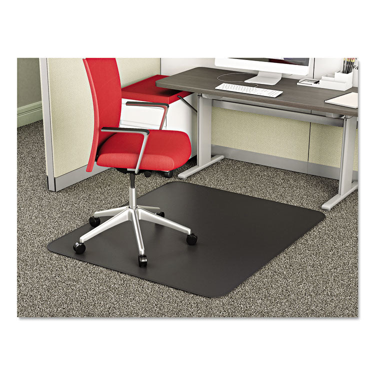 SUPERMAT FREQUENT USE CHAIR MAT FOR MEDIUM PILE CARPET, 45 X 53, RECTANGULAR, BK