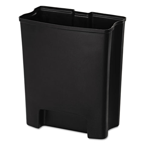 Step-On Rigid Liner For Resin End Step, Plastic, 13 Gal, Black
