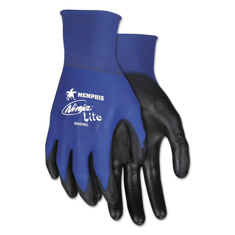 Ultra Tech Tactile Dexterity Work Gloves, Blue/black, Small, 1 Dozen