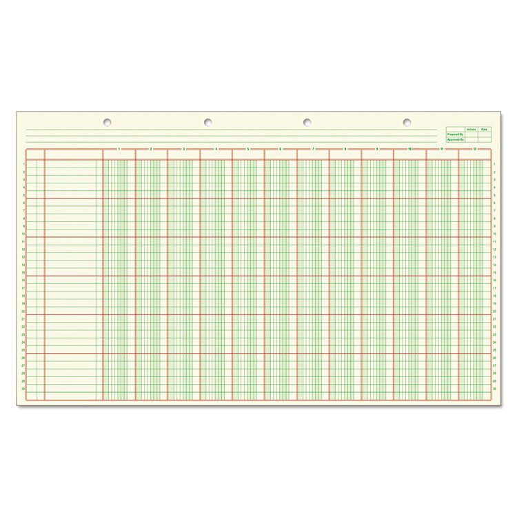 Columnar Analysis Pad, 12 Column, 8 1/2 X 11, Single Page Format, 50 Sheets/pad