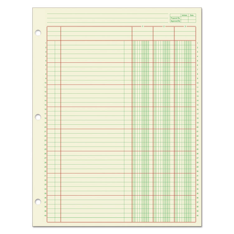 Columnar Analysis Pad, 3 Column, 8 1/2 X 11, Single Page Format, 50 Sheets/pad