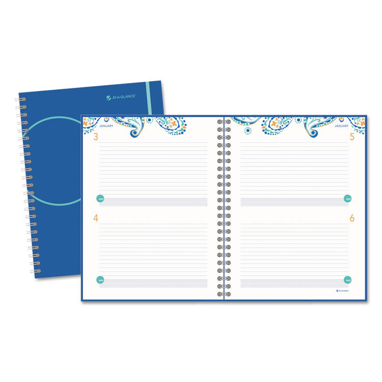 Planning Notebook, 8 1/2 X 11, Fashionable Blue Cover, 2017