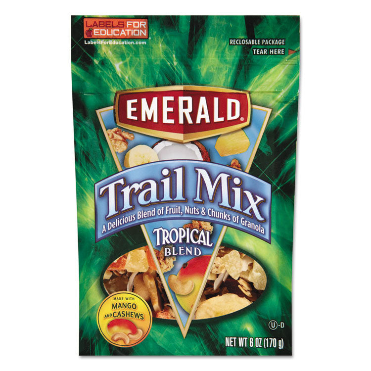 Trail Mix, Tropical Blend, 6 Oz Bag, 6/carton