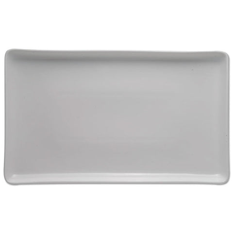 Serving Tray, Porcelain, White, 16 X 9 1/4