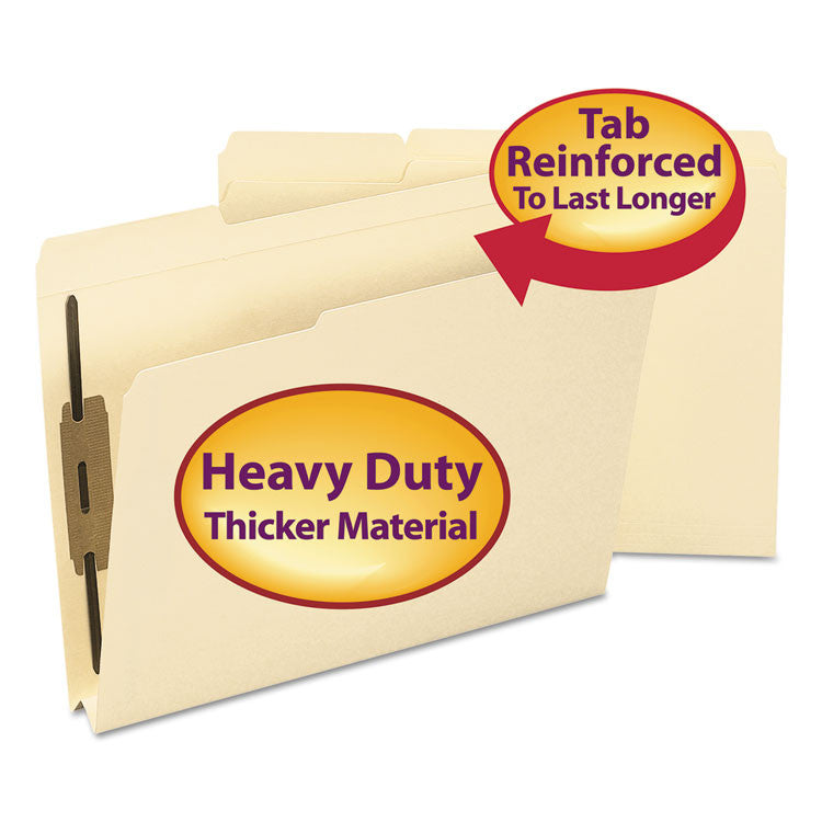 1 1/2 Inch Expansion Folder, Two Fasteners, 1/3 Top Tab, Letter, Manila, 50/box