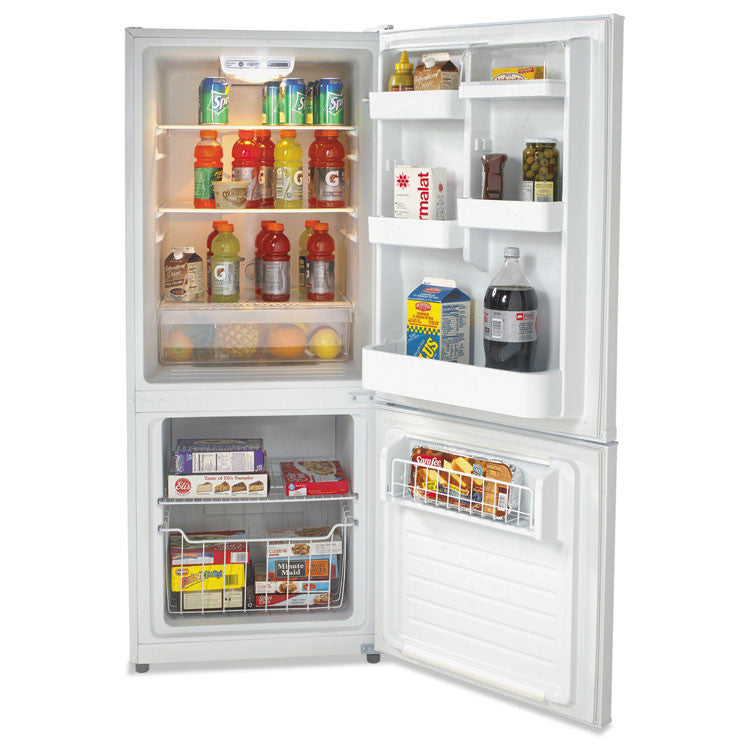 Bottom Mounted Frost-Free Freezer/refrigerator, 10.2 Cubic Feet, White
