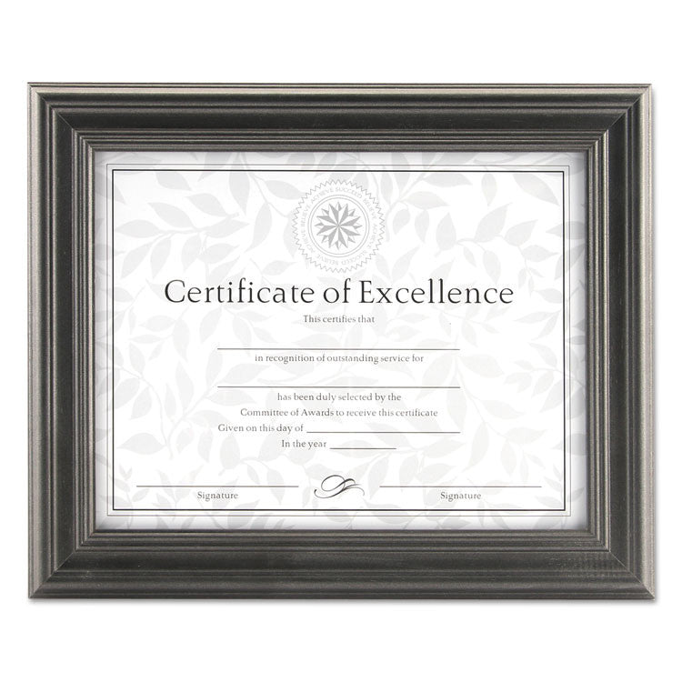 Dimensional Solid Wood Frame, 8 1/2 X 11, Pewter Frame