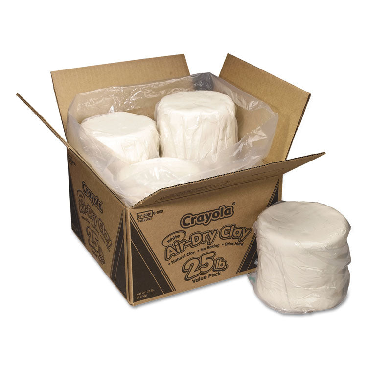 AIR-DRY CLAY, WHITE, 25LB BOX