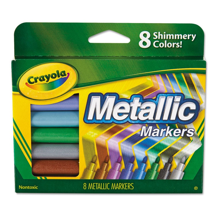 Metallic Markers, Assorted, 8/set