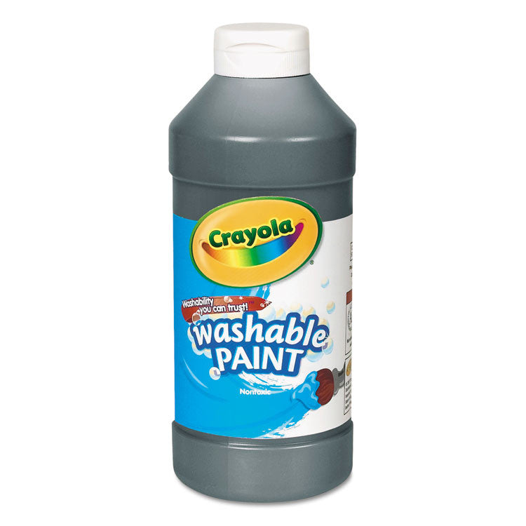 Washable Paint, Black, 16 Oz