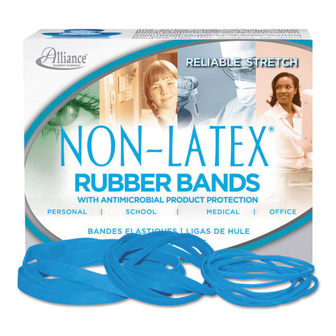 Antimicrobial Non-Latex Rubber Bands, Sz.19, 3-1/2 X 1/16, 1/4lb Box