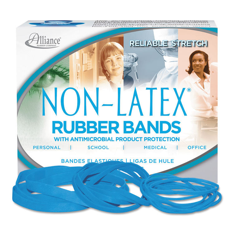 Antimicrobial Non-Latex Rubber Bands, Sz. 54, Assorted, 1/4lb Box