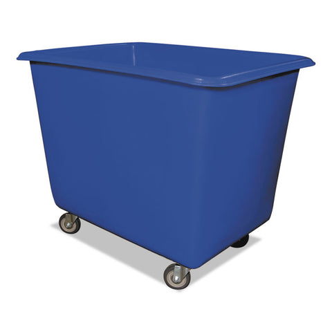 12 Bushel Poly Truck W/galvanized Steel Base, 30 X 40 X 33, 800 Lbs. Cap., Blue