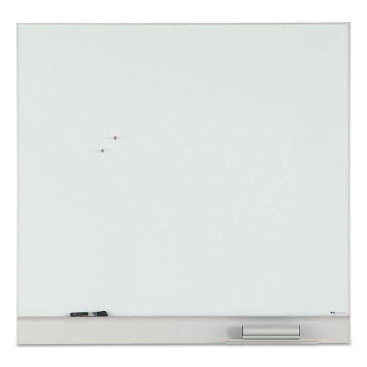 Magnetic Dry Erase Board, Minimal Aluminum Frame, 48 X 46