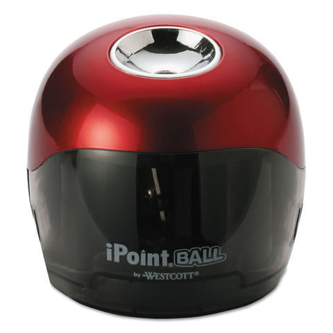 IPOINT BALL BATTERY SHARPENER, RED/BLACK, 3W X 3D X 3 1/3H