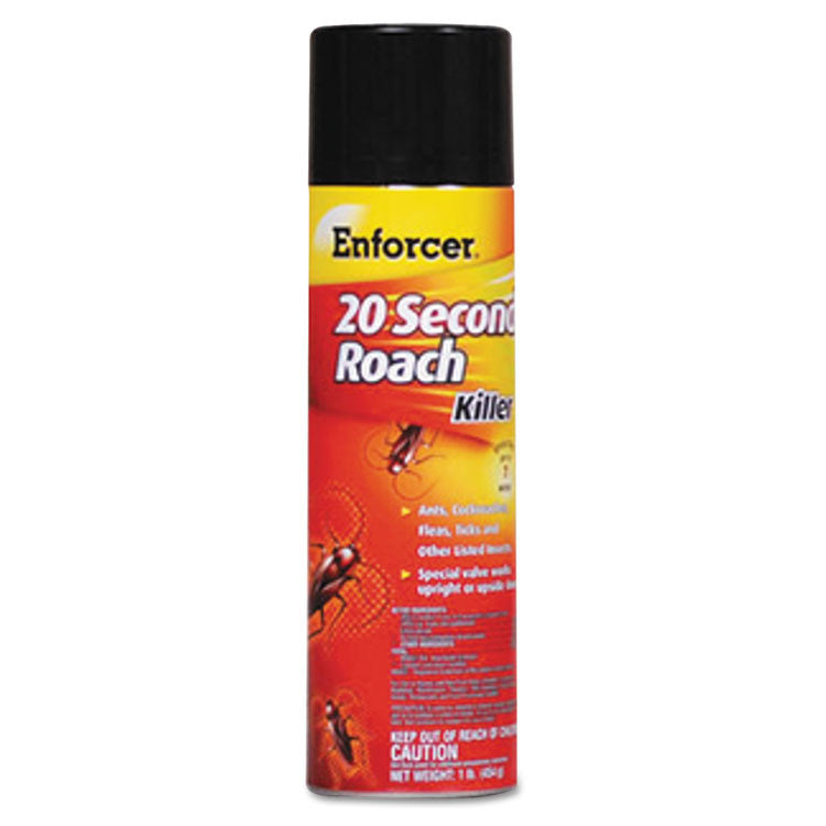 20-Second Roach Killer, 16 Oz Aerosol, Indoor; Outdoor, 12/carton