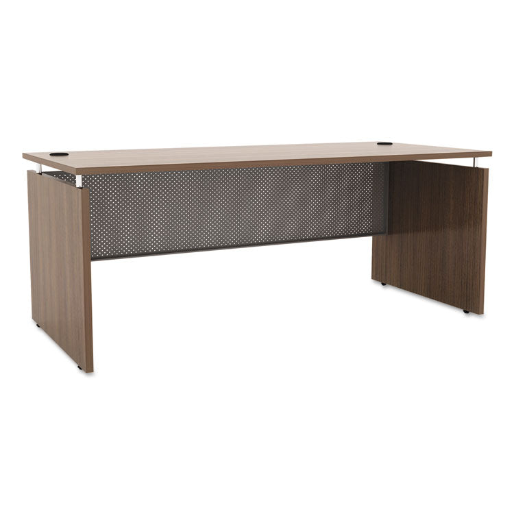 Alera Sedina Series Straight Front Desk Shell, 66w X 30d X 29.5h, Modern Walnut