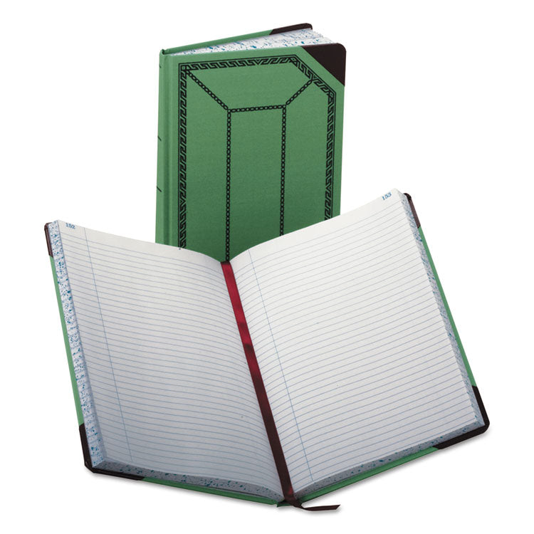 Record/account Book, Record Rule, Green/red, 300 Pages, 12 1/2 X 7 5/8