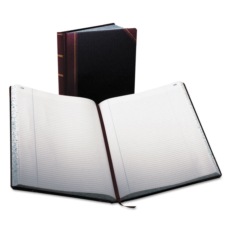 Record Ruled Book, Black Cover, 300 Pages, 10 7/8 X 14 1/8