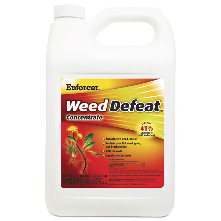 Weed Defeat Concentrate, Non-Selective, 1 Gal Bottle, 4/carton