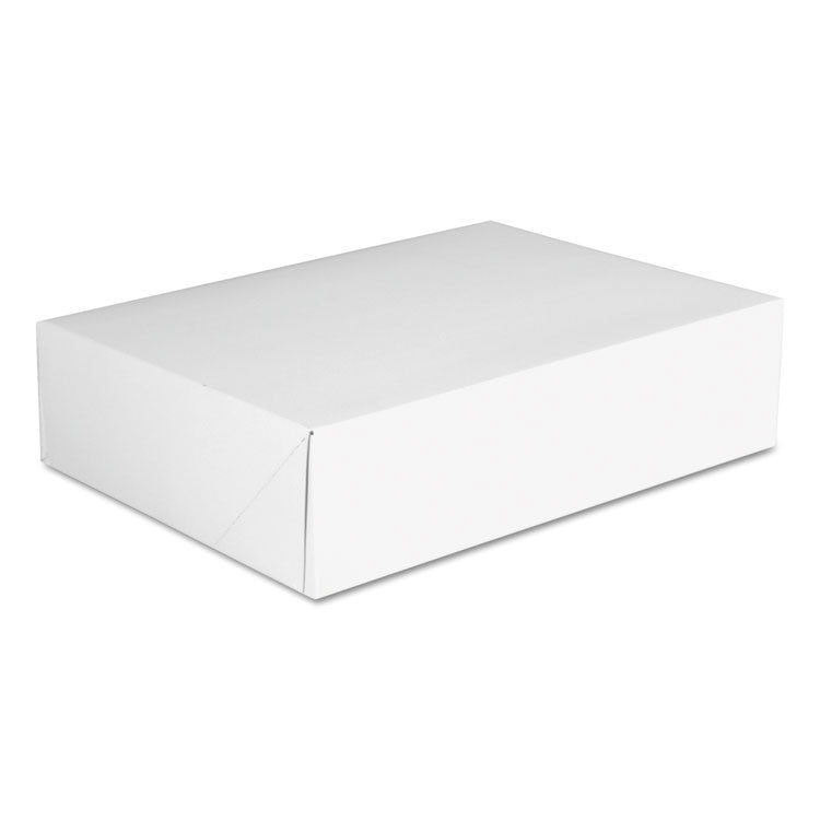 Bakery Boxes, White, Paperboard, 12 7/8 X 23 X 12 3/4, 125/carton