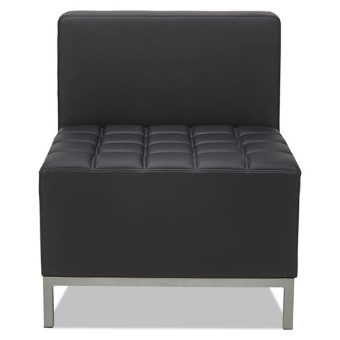 Alera Qub Series Armless L Sectional, 26 3/8 X 26 3/8 X 30 1/2, Black