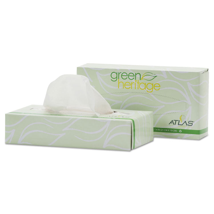GREEN HERITAGE PROFESSIONAL FACIAL TISSUE, 2-PLY,7 4/5 X 8, 100/BOX, 72 BOX/CT