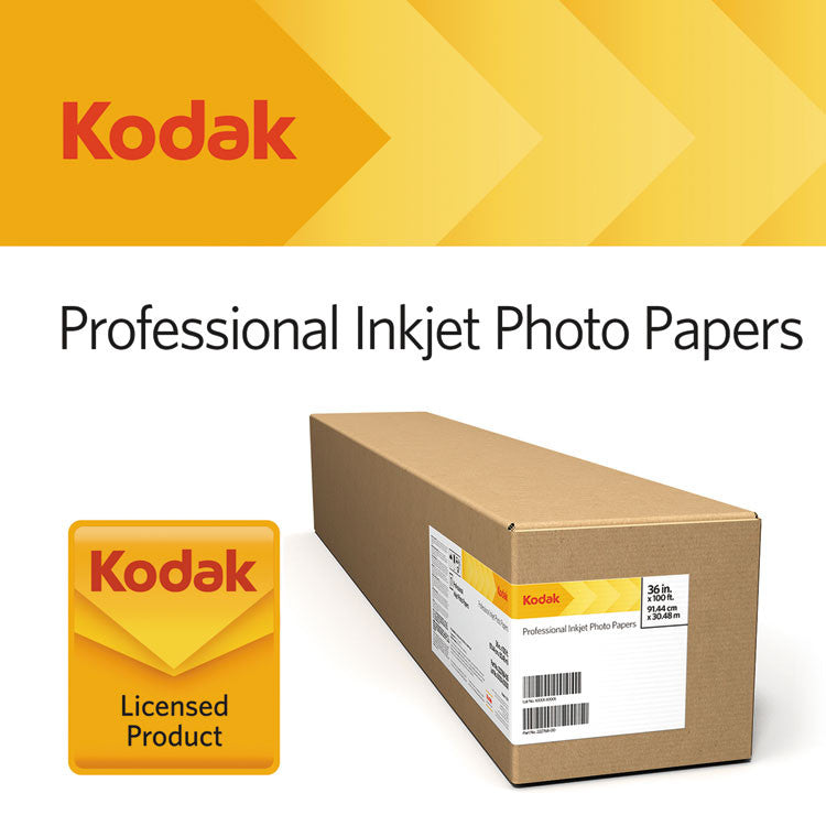 "Professional Inkjet Photo Paper Roll, Glossy, 10.9 Mil, 16"" X 100 Ft, White"