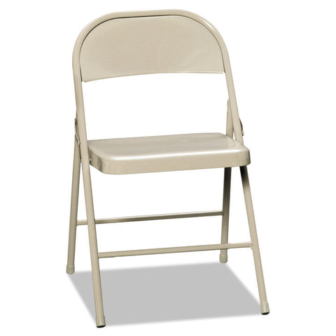 All-Steel Folding Chairs, Light Beige, 4/carton