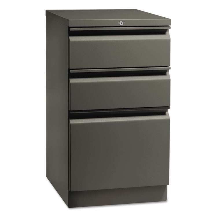 Flagship Mobile Box/box/file Pedestal, Full Radius Pull, 19-7/8d, Charcoal