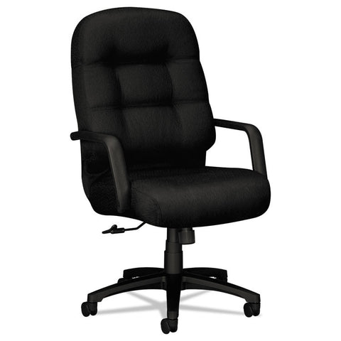 2090 Pillow-Soft Series Executive High-Back Swivel/tilt Chair, Black/black