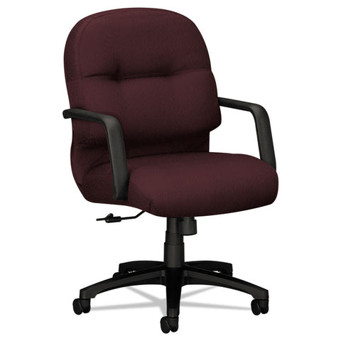 2090 Pillow-Soft Series Managerial Mid-Back Swivel/tilt Chair, Wine Fabric/black